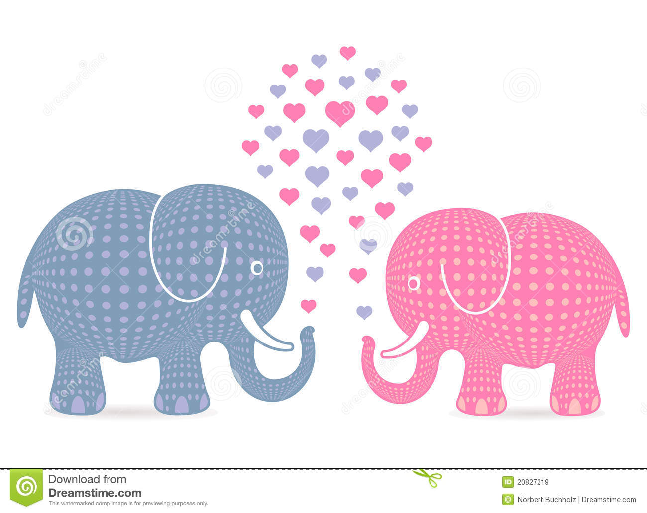 Soltando Amor Imagem De Elefantes: Elephants In Love Royalty Free Stock Images