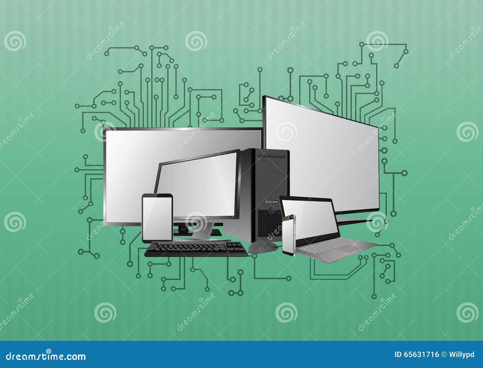Eletrônica de dispositivo da tecnologia