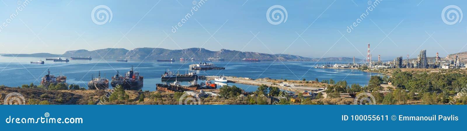 Eleusis zatoka, Attica - Grecja