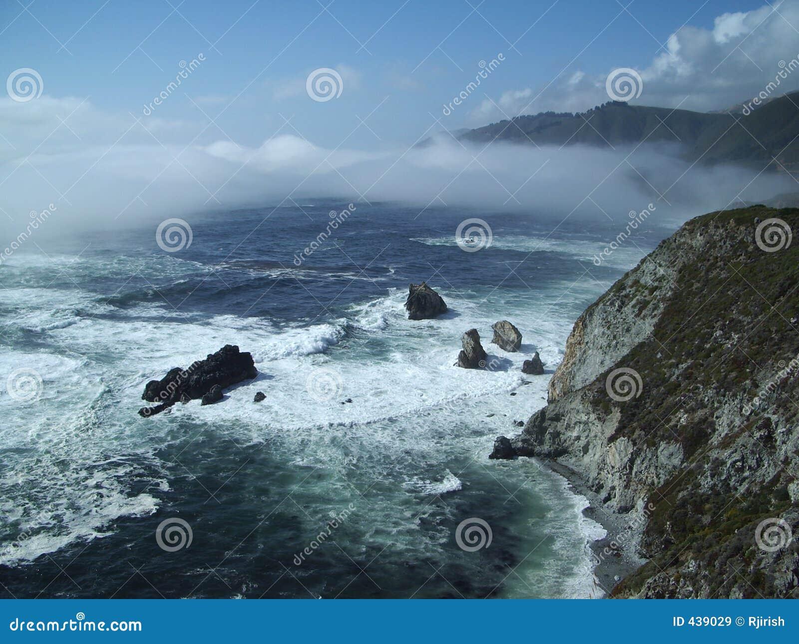 Elevação acima das ondas na costa