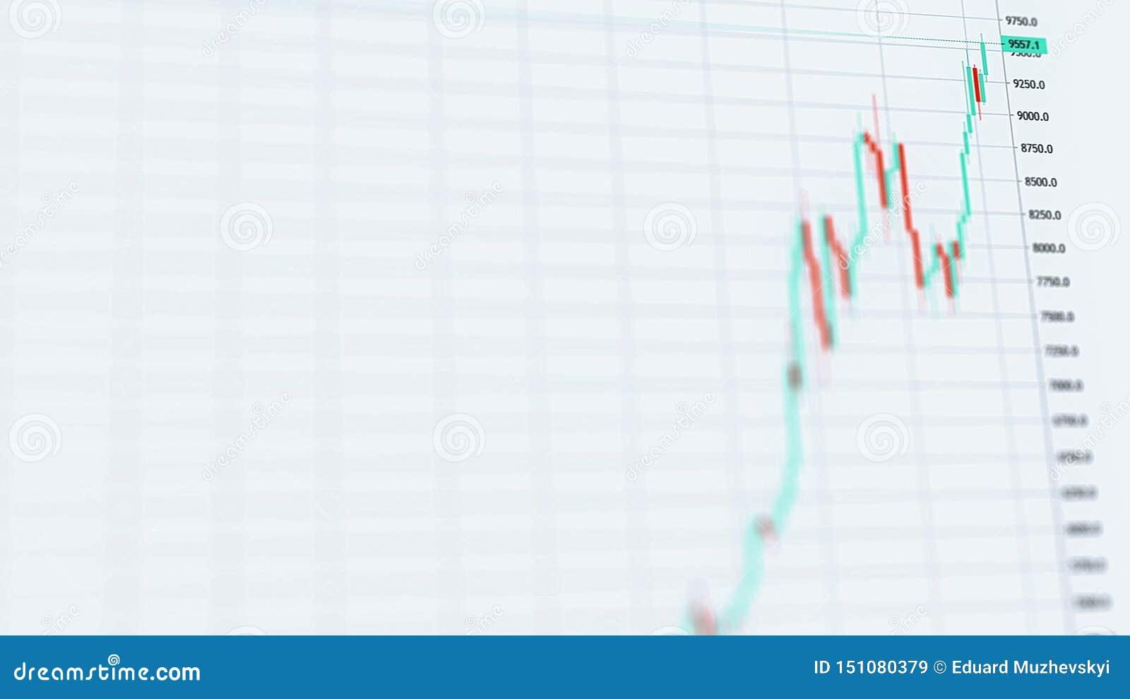 Elevação cripto do preço dos bens de Bitcoin a 9000 dólares em um uptrend com tendência para a alta