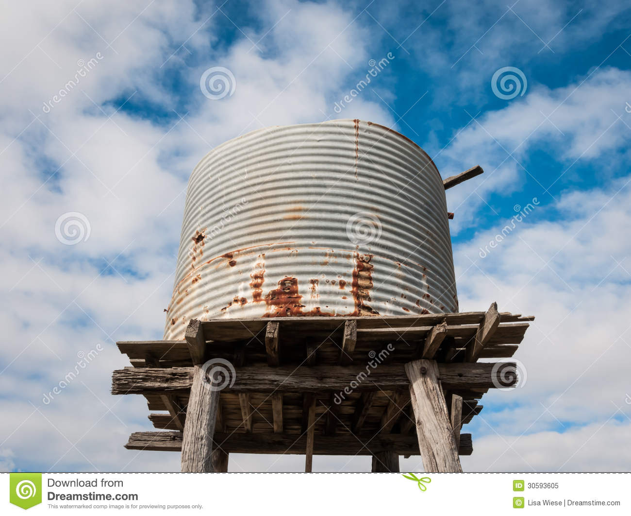 Elevated old water tank stock image  Image of ruins, metal