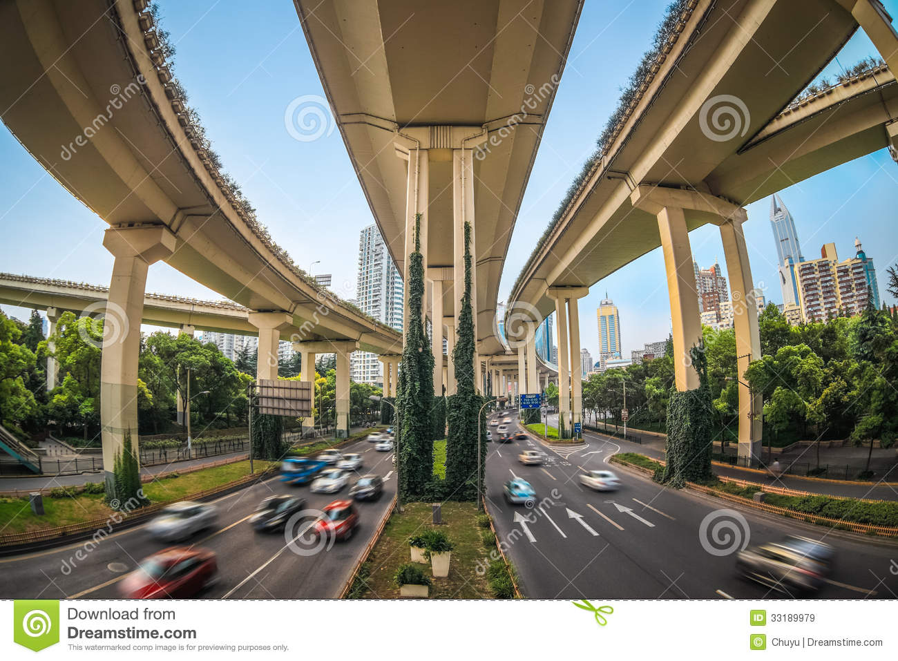 Bridge Street Auto >> Elevated Traffic Highway Royalty Free Stock Images - Image: 33189979