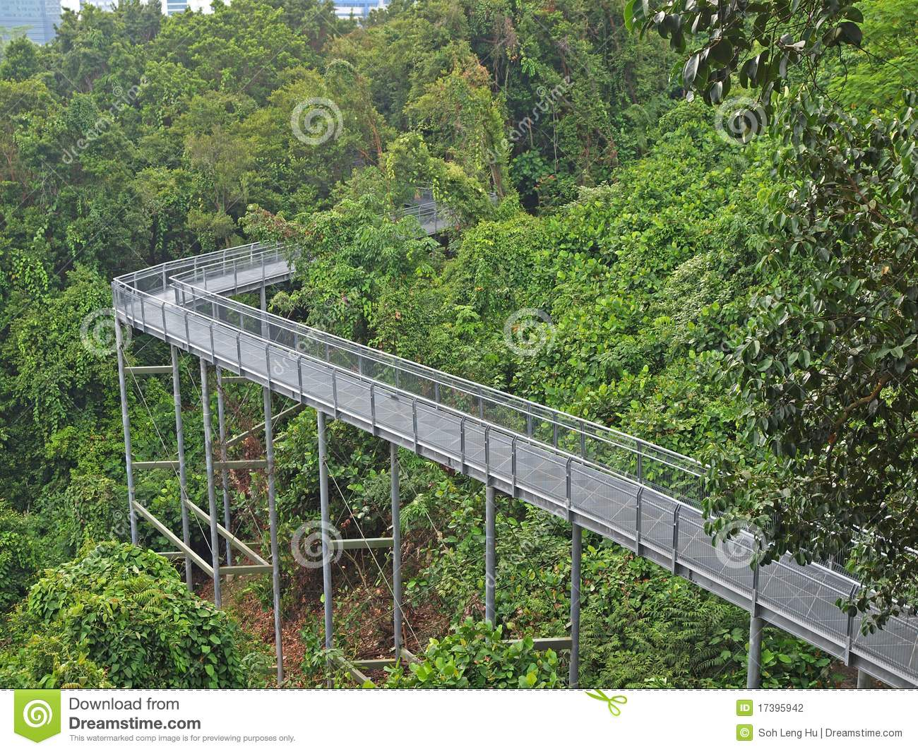 Elevated Walkway, Singapore Editorial Photography - Image of