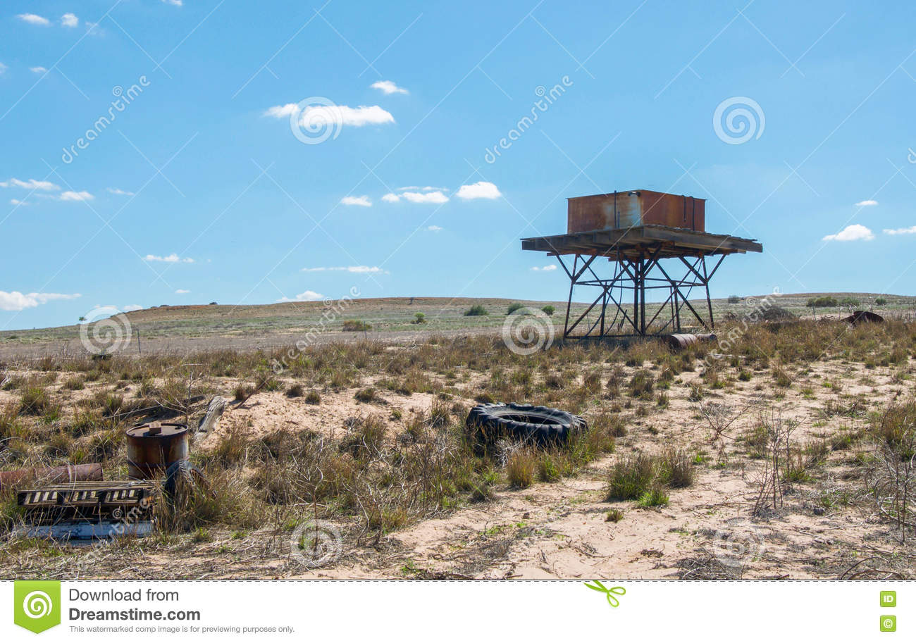 Elevated Water Tank stock image  Image of rusty, farmland