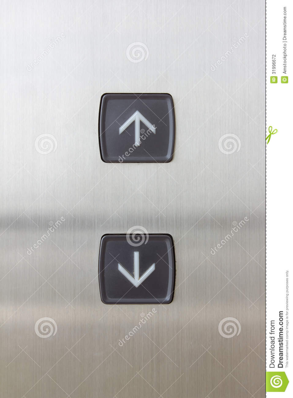 Elevator Button Up And Down Direction Stock Photography
