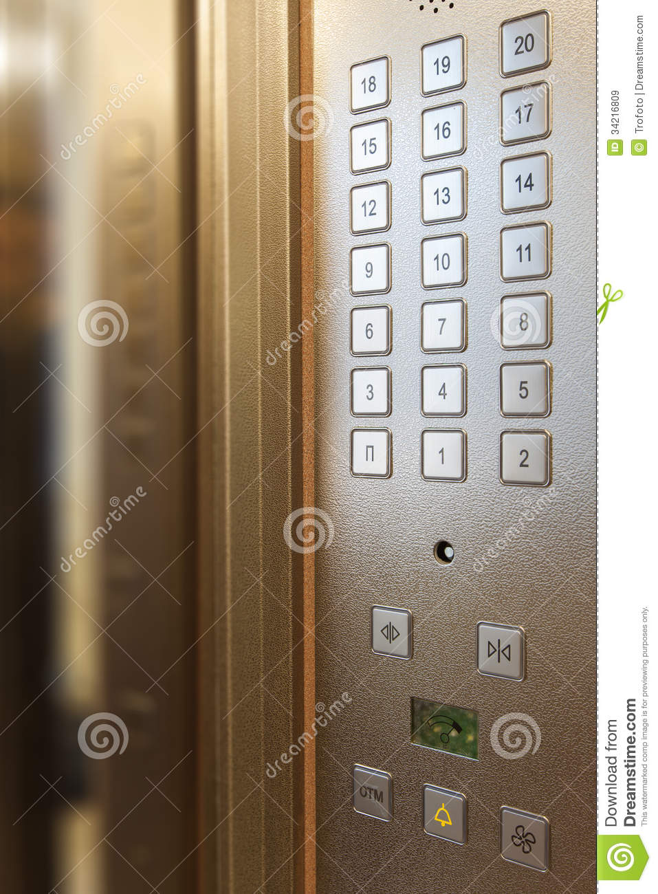 Elevator Buttons Royalty Free Stock Images Image 34216809