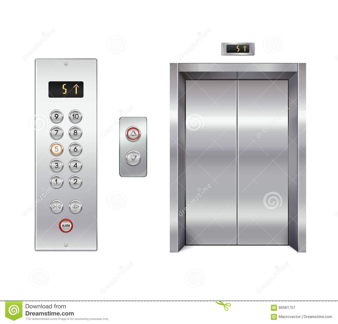 Elevator Design Set Stock Vector Image Of Architecture