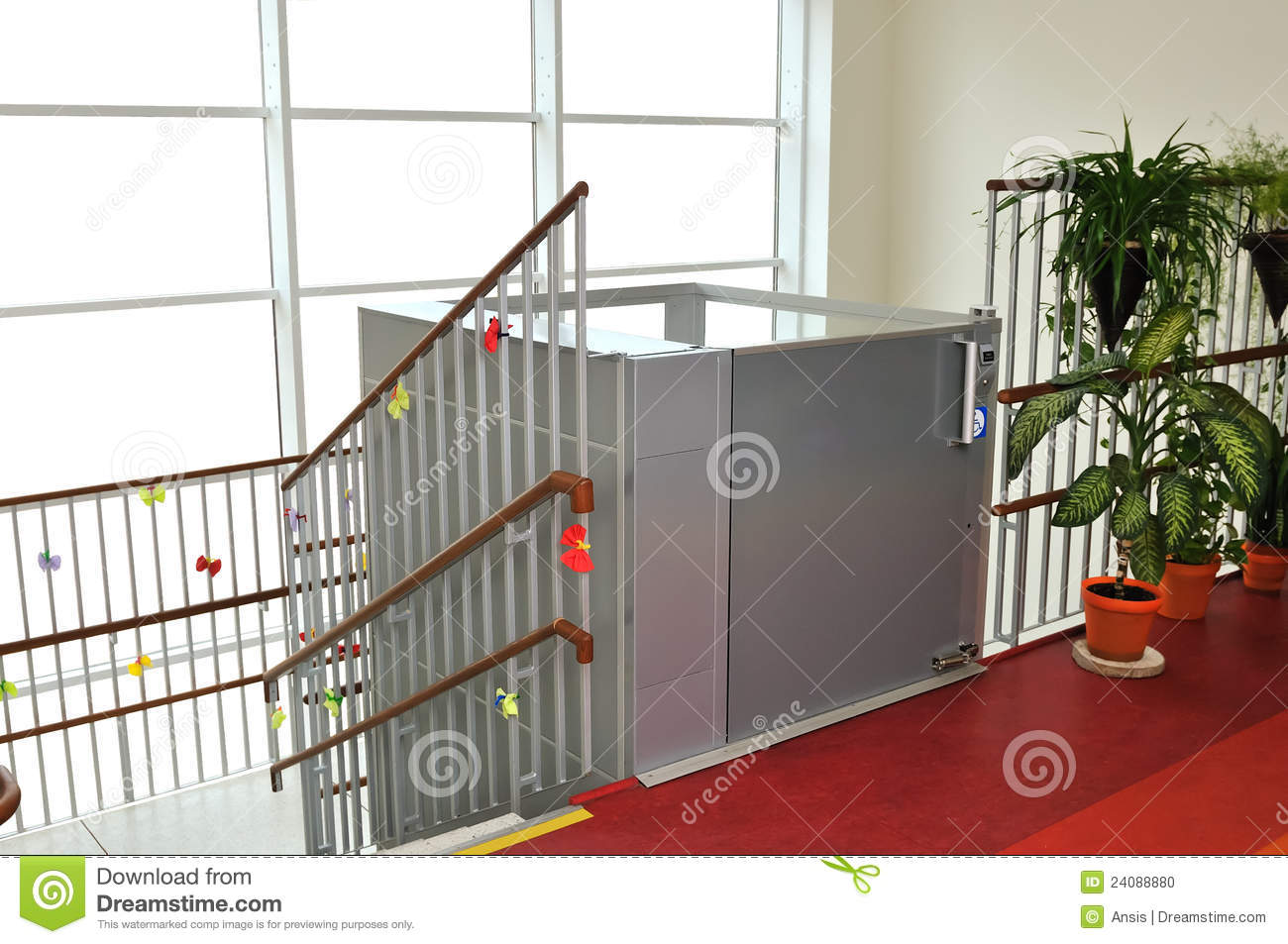 Elevator for disabled people stock photo image 24088880 for Indoor elevator