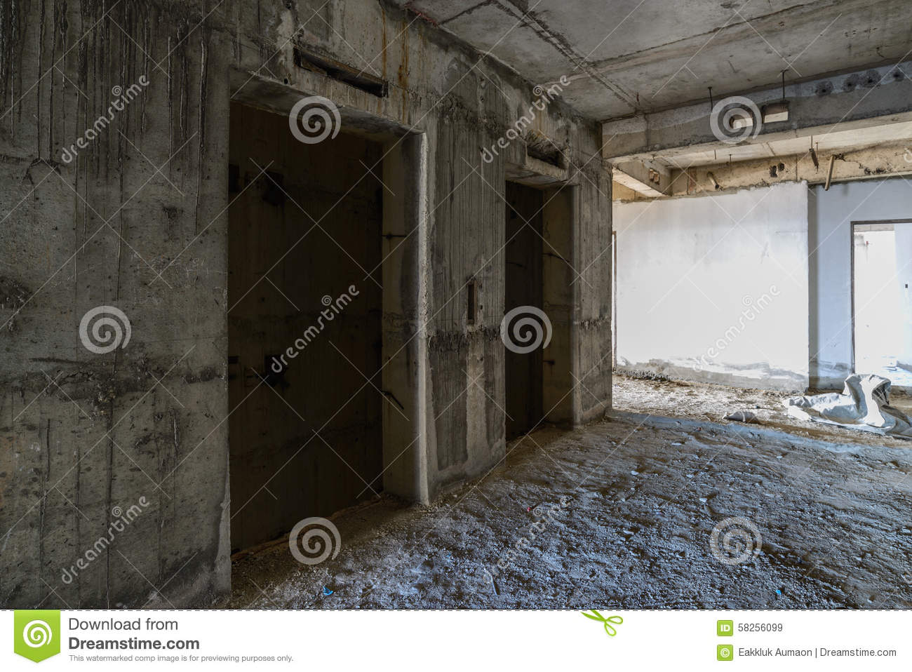 Elevator Door Under Construction Stock Image Image Of Preparation
