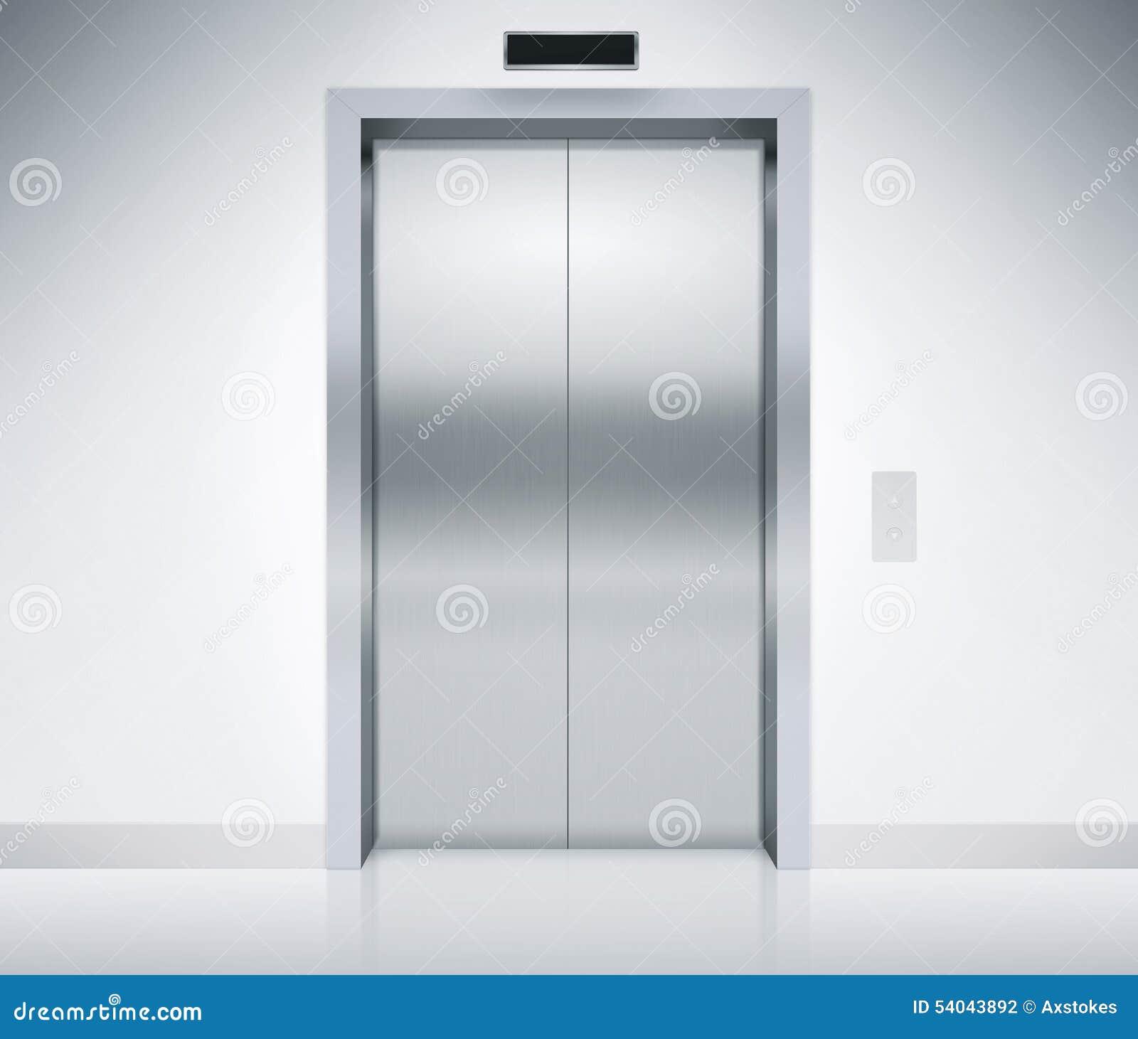 Elevator Doors Closed Stock Illustration Image 54043892