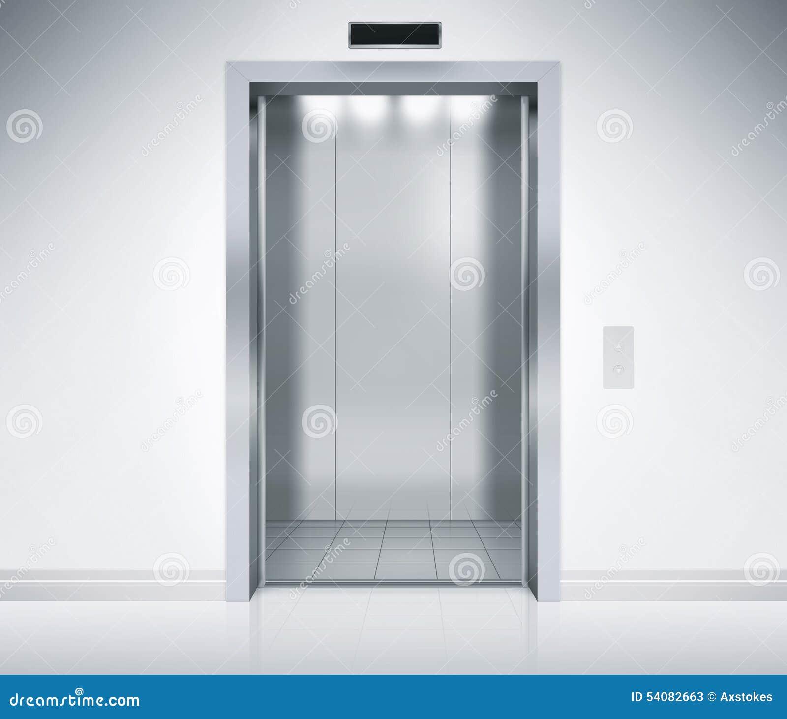 Elevator Doors Open Stock Image Image Of Going Building