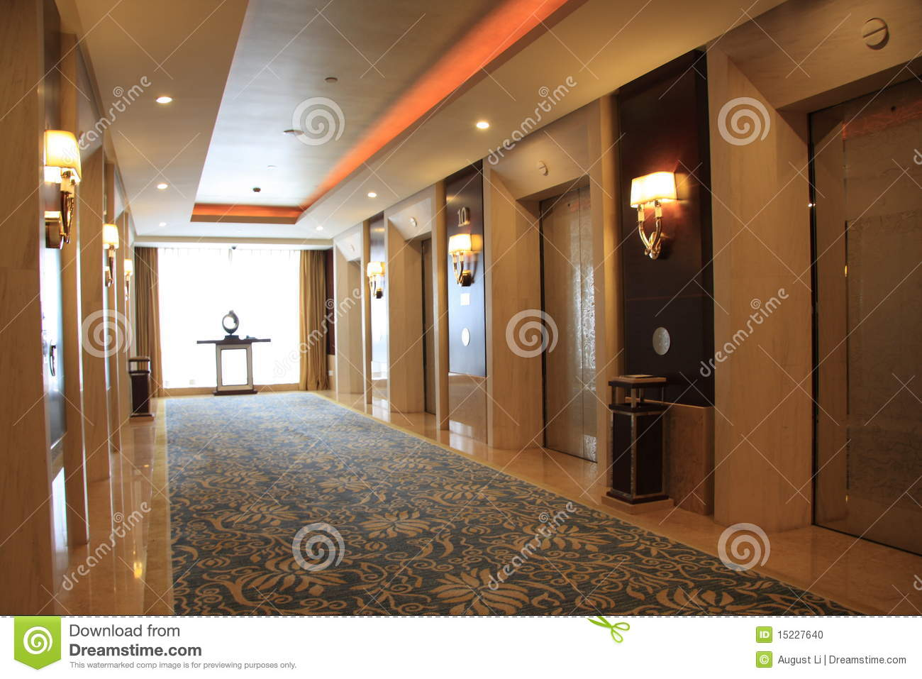 Elevator Hall Stock Photo Image 15227640
