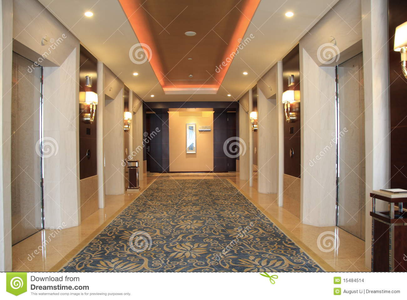 Elevator hall stock photo. Image of moving, metallic ...