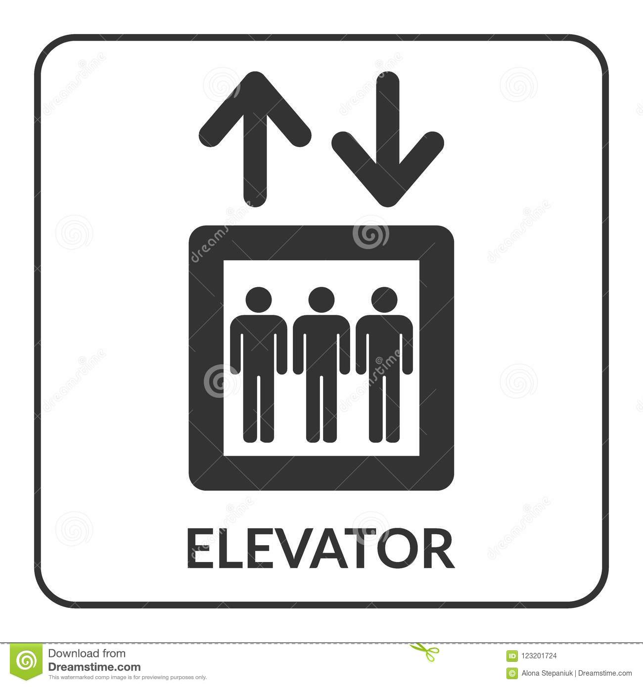 Elevator Icon Lift Symbol Stock Vector Illustration Of Career