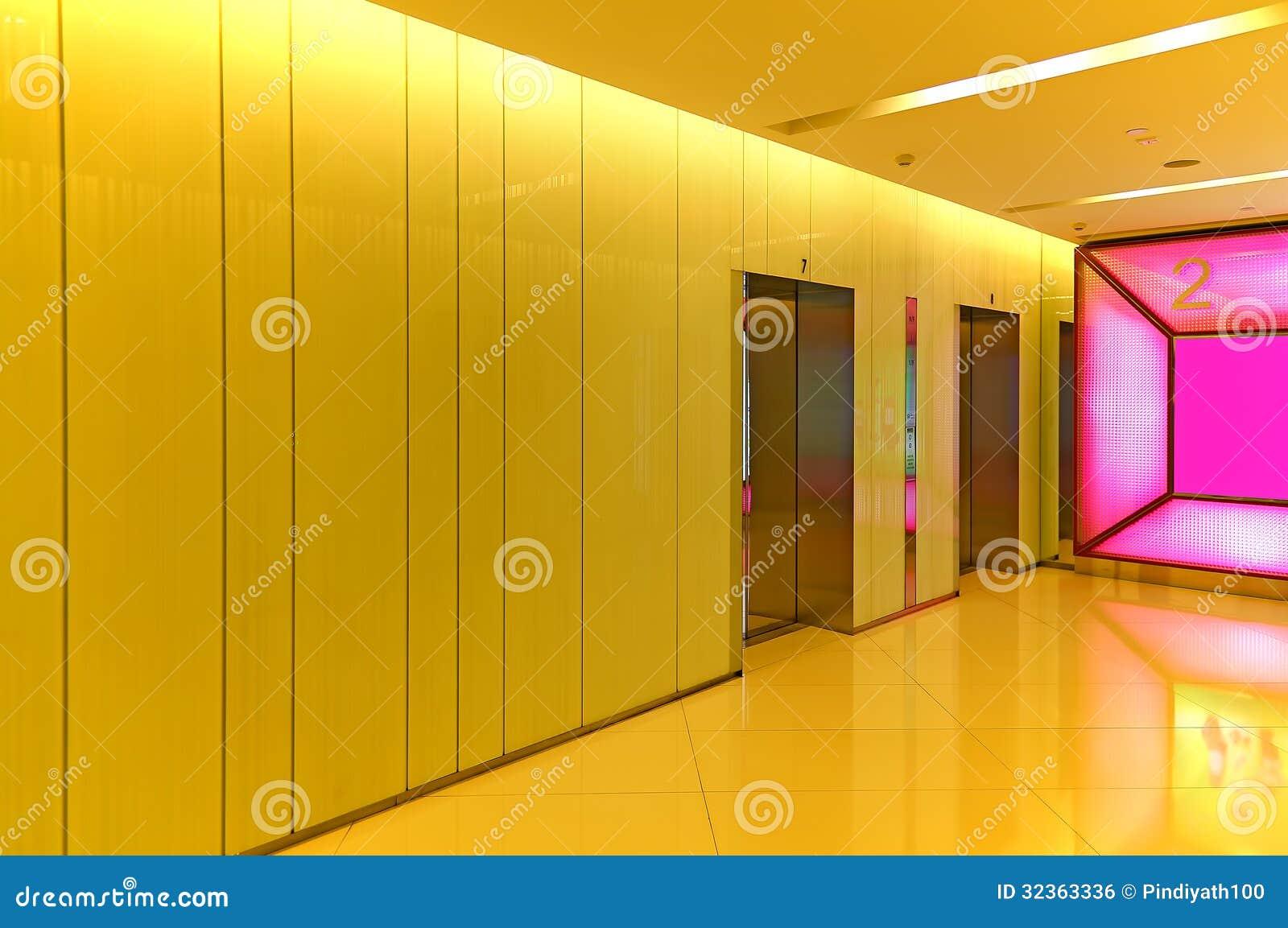 Elevator Or Lift Lobby Royalty Free Stock Image Image