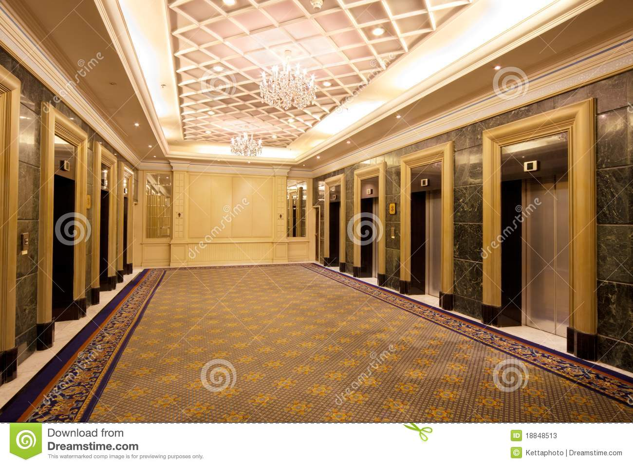 Luxury hotel furniture - Luxury Elevator Lobby In Headquarter Building