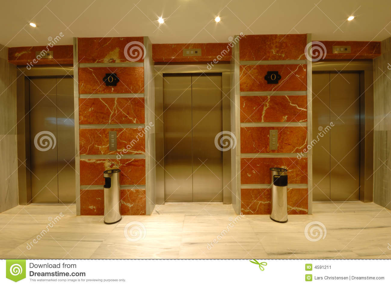 Elevator In Modern Hotel Stock Image - Image: 4591211