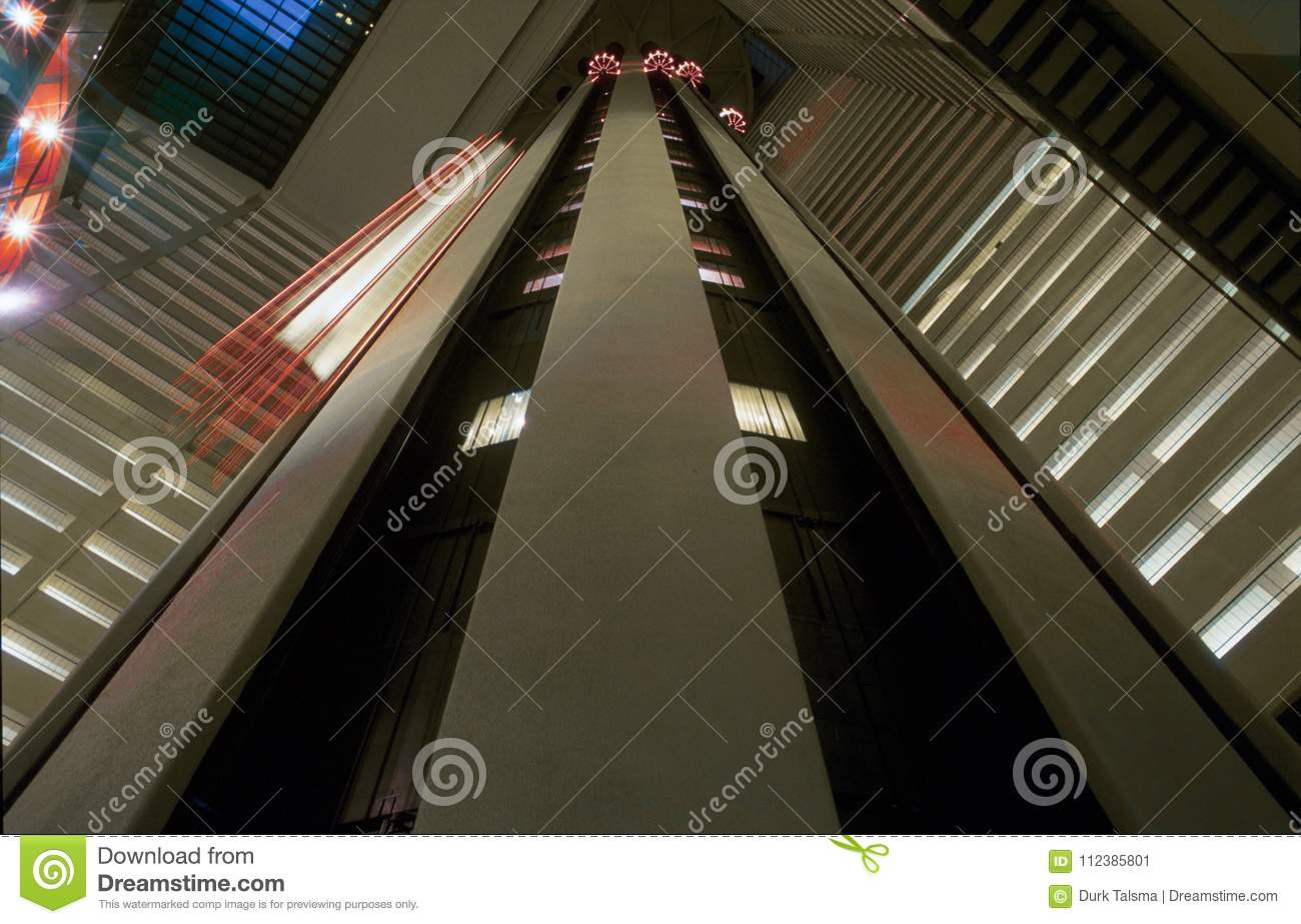Elevator Ride In New York City Stock Image Image Of Airport