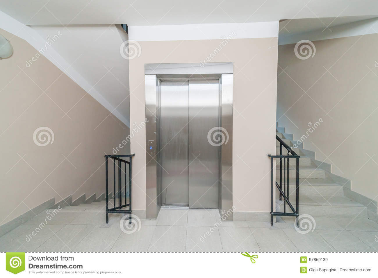 Download Elevator And Stairs Stock Image. Image Of Door, Doors   97859139