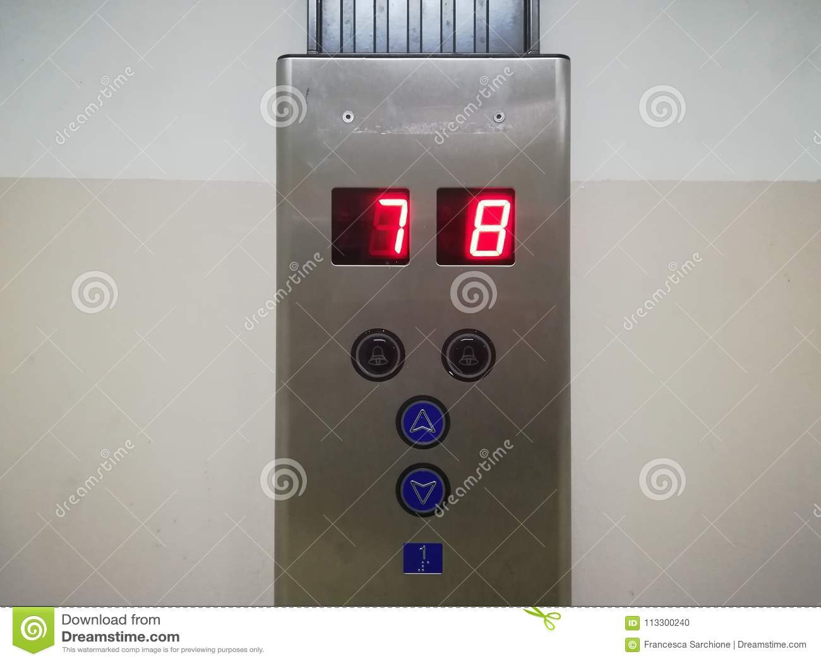 the elevator panel stock photo image of panel push 113300240