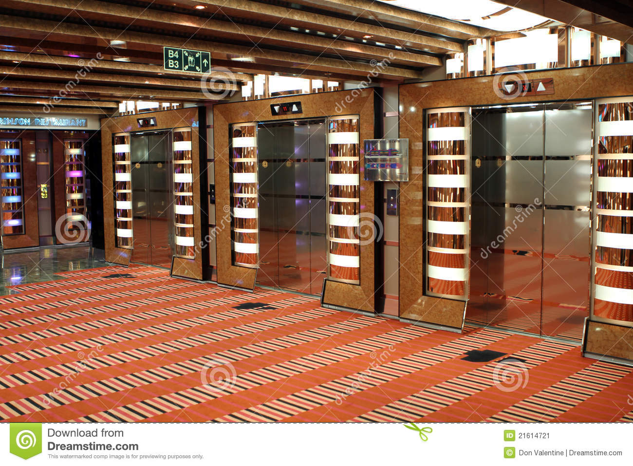 Elevators On A Cruise Ship Stock Image Image 21614721