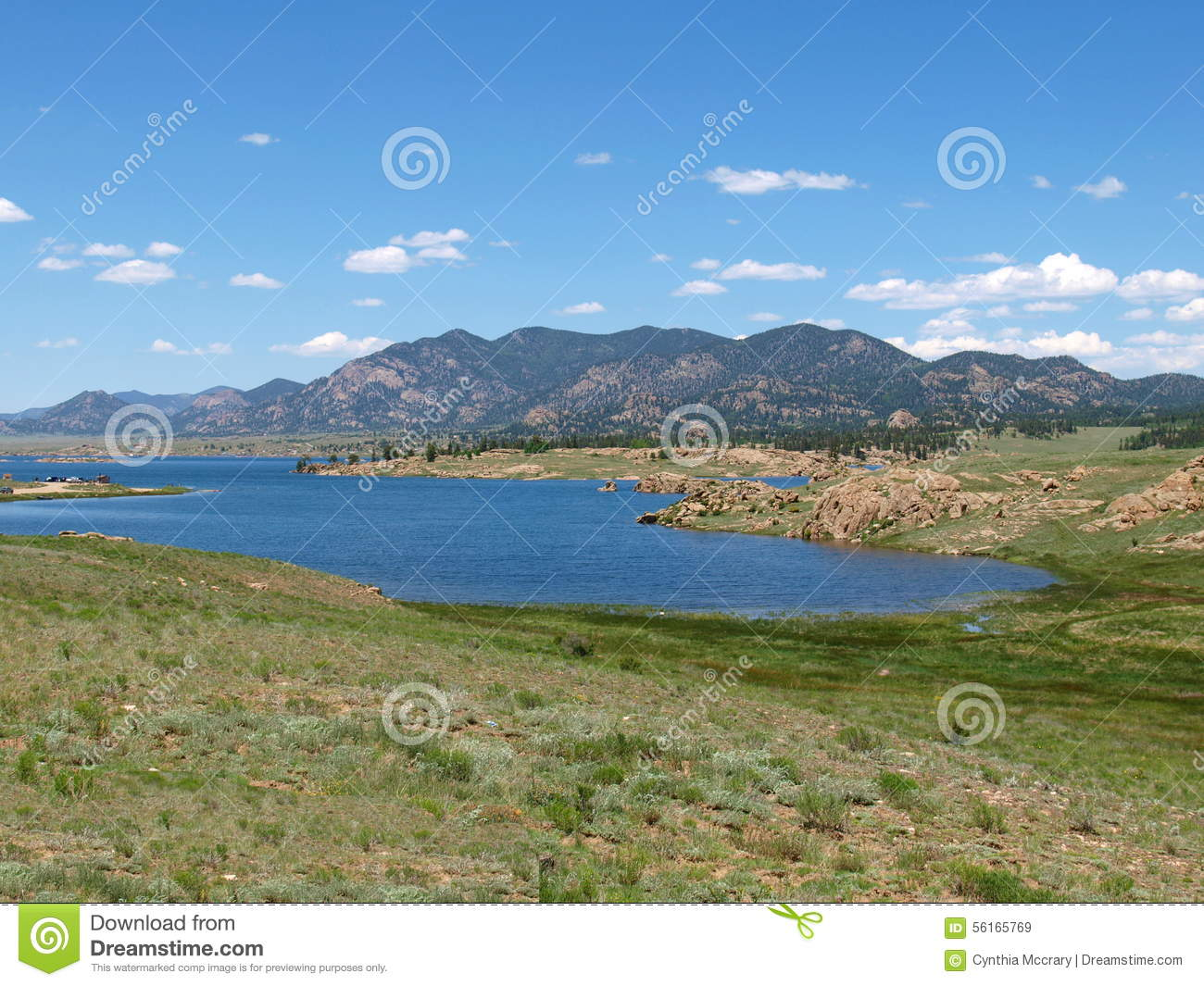 Eleven mile reservoir stock photo image 56165769 for Camping and fishing in colorado