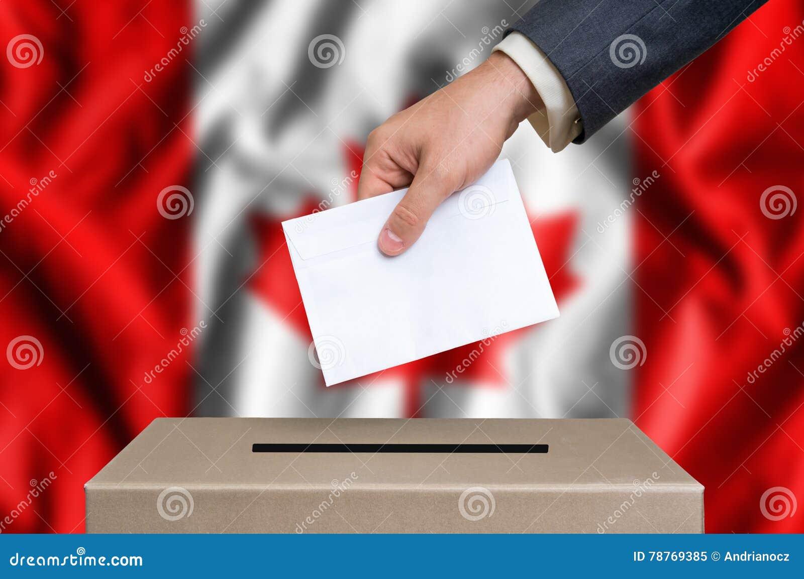 Elezione nel Canada - votando all urna