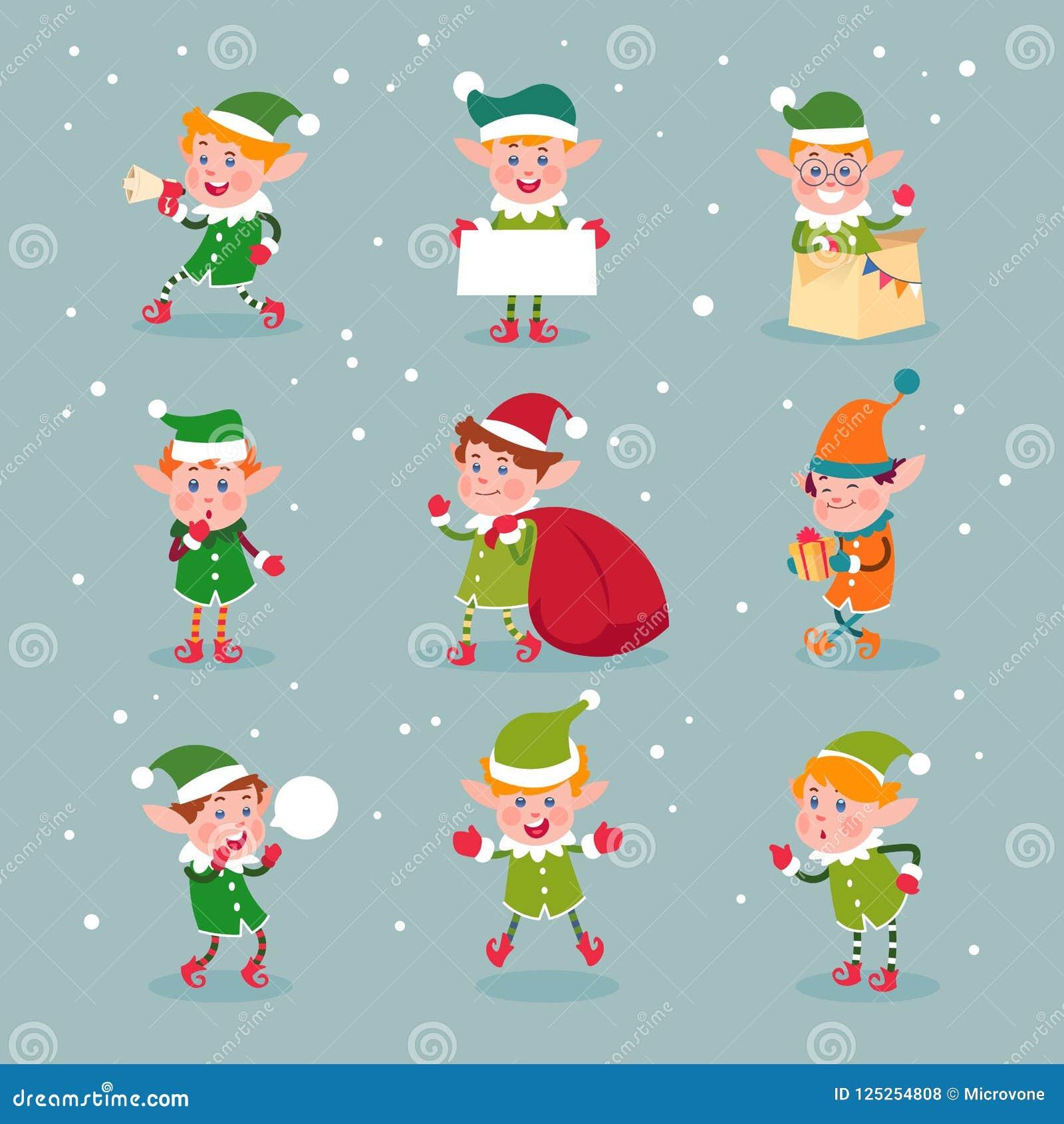 Foto Degli Elfi Di Babbo Natale.Elf Assistenti Del Babbo Natale Del Fumetto Caratteri Nani
