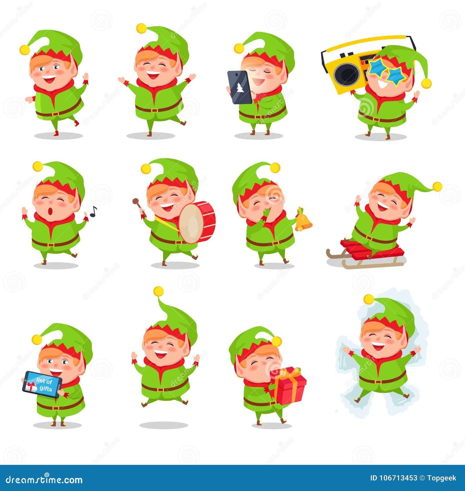 download elf collection of activities vector illustration stock vector illustration of game male - Christmas Elf Games