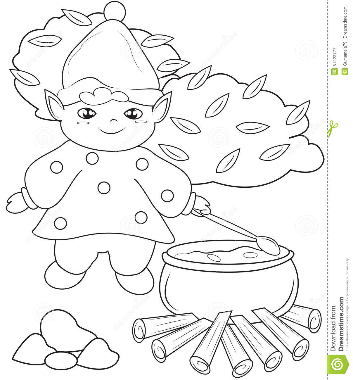 Chef Tools Coloring Page