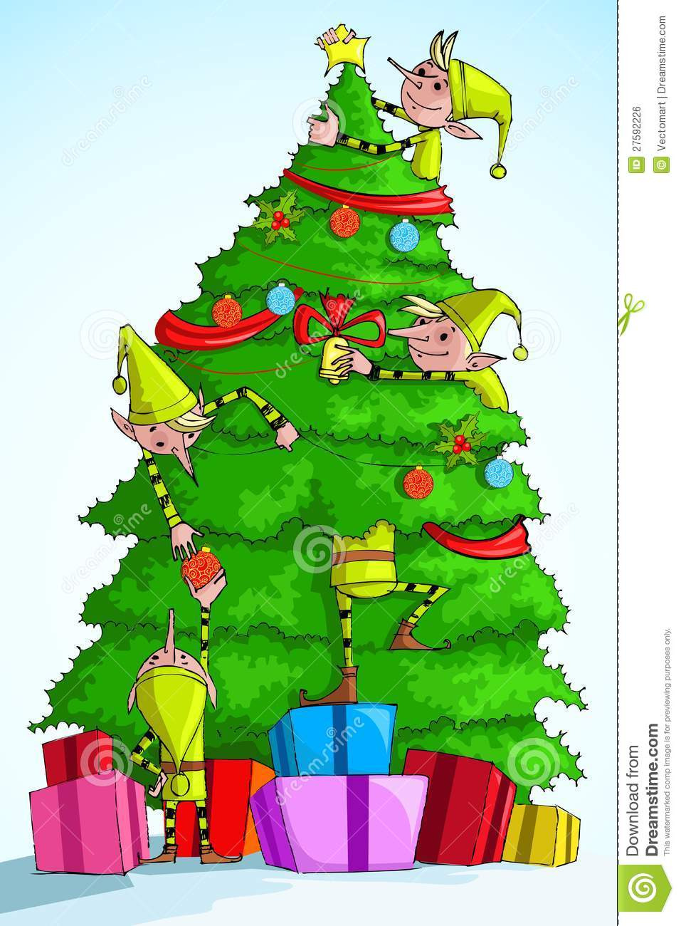 christmas tree in elf