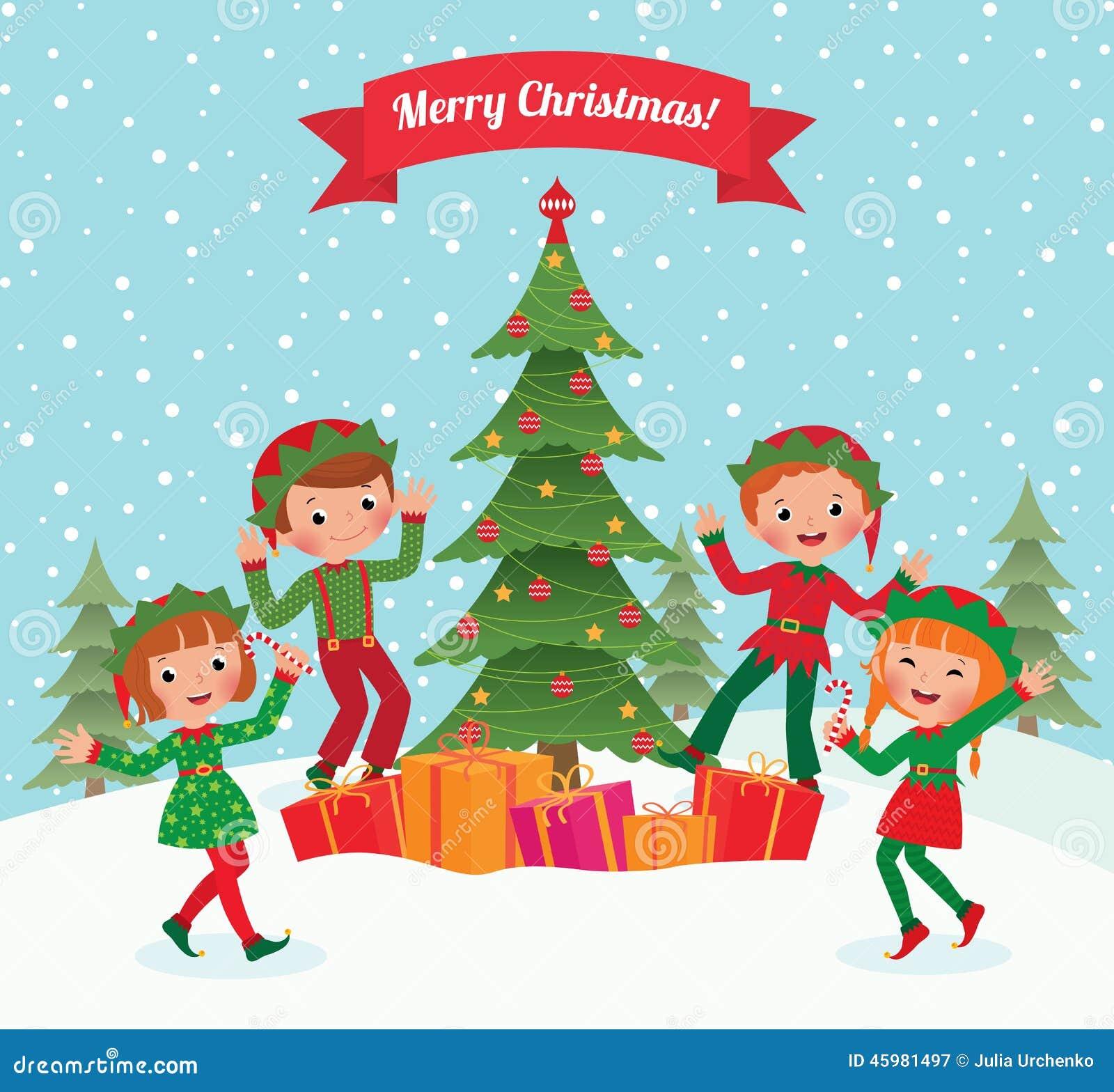 Elf en Kerstboom