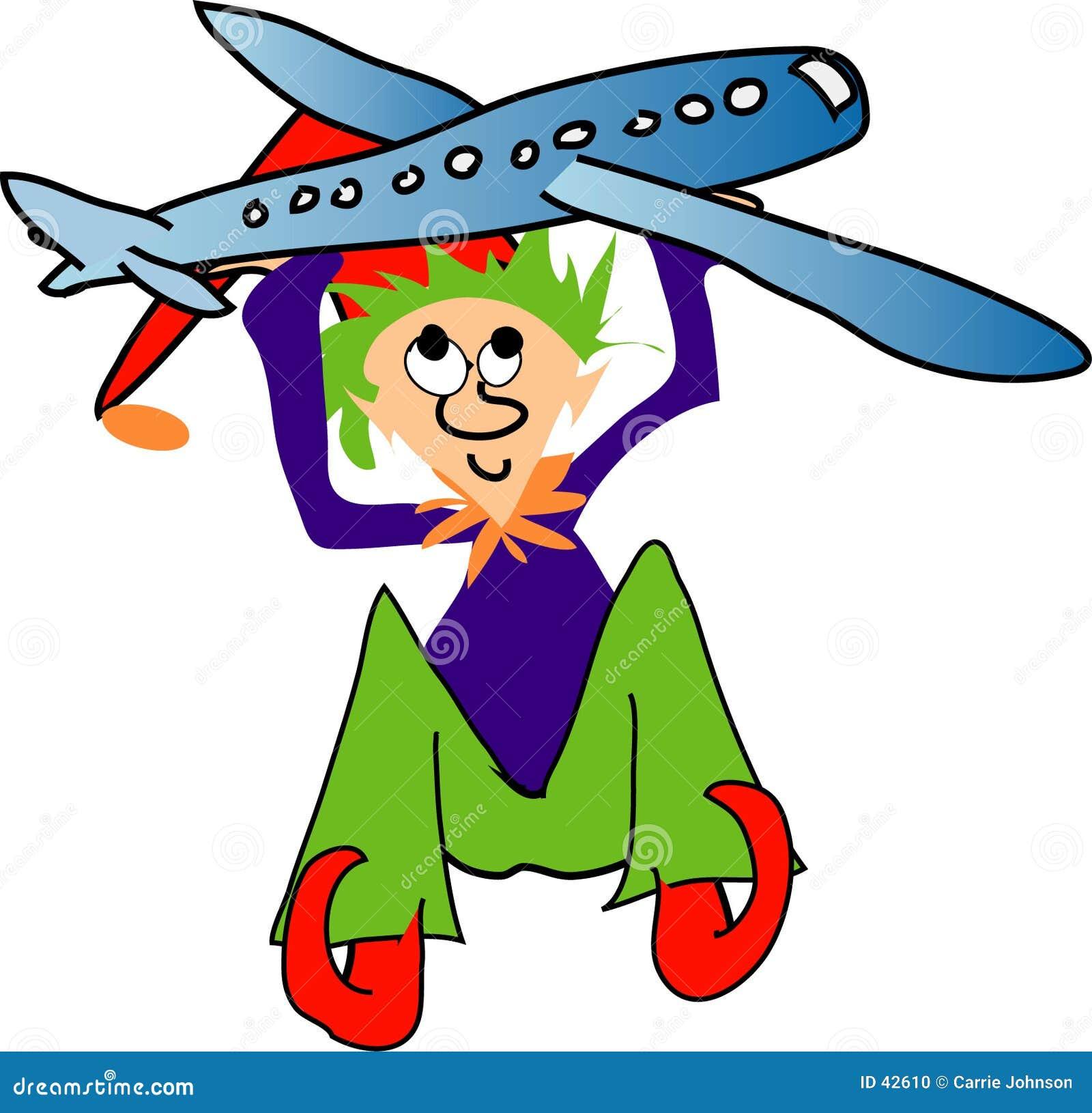 Elf met vliegtuig