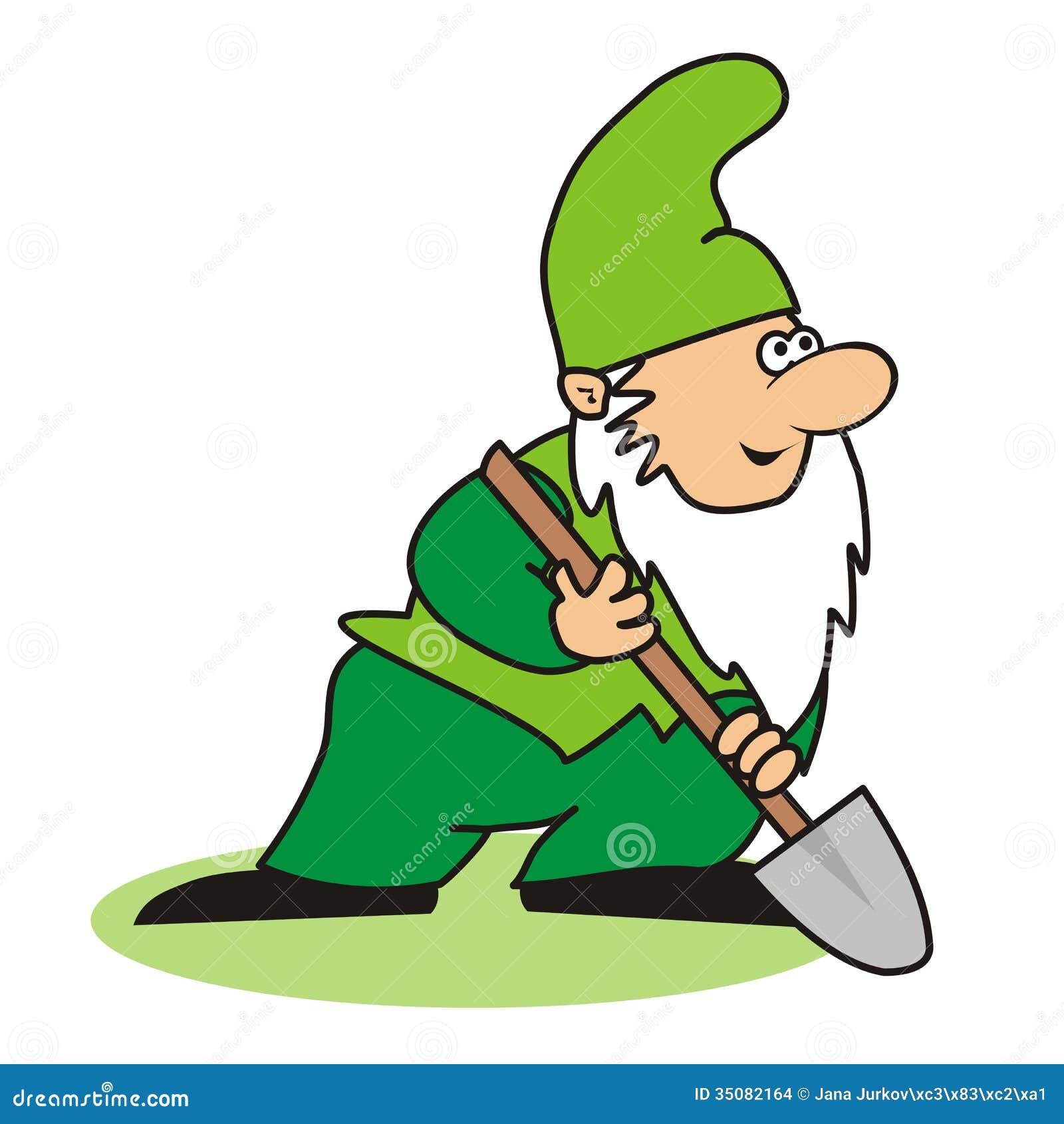 Leprechaun Beard Clip Art Beard - elf - digging spade