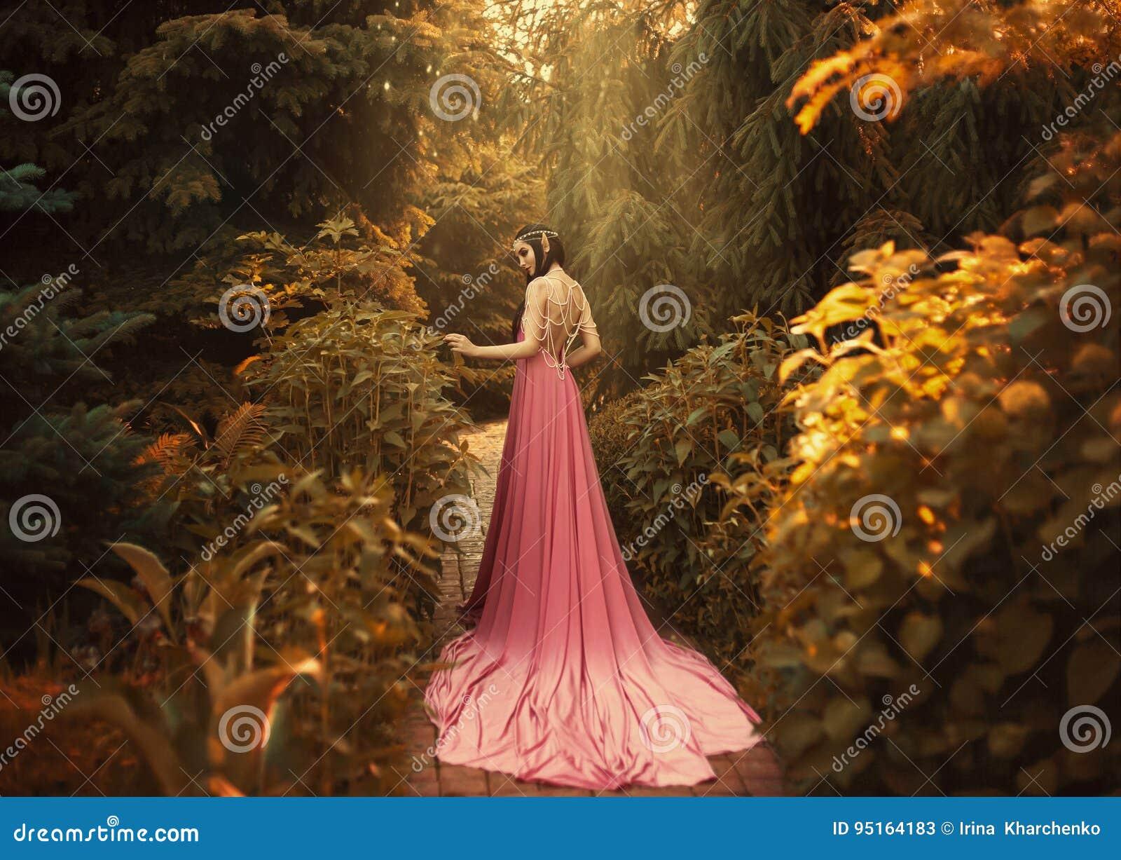 The Elf walks in the autumn garden