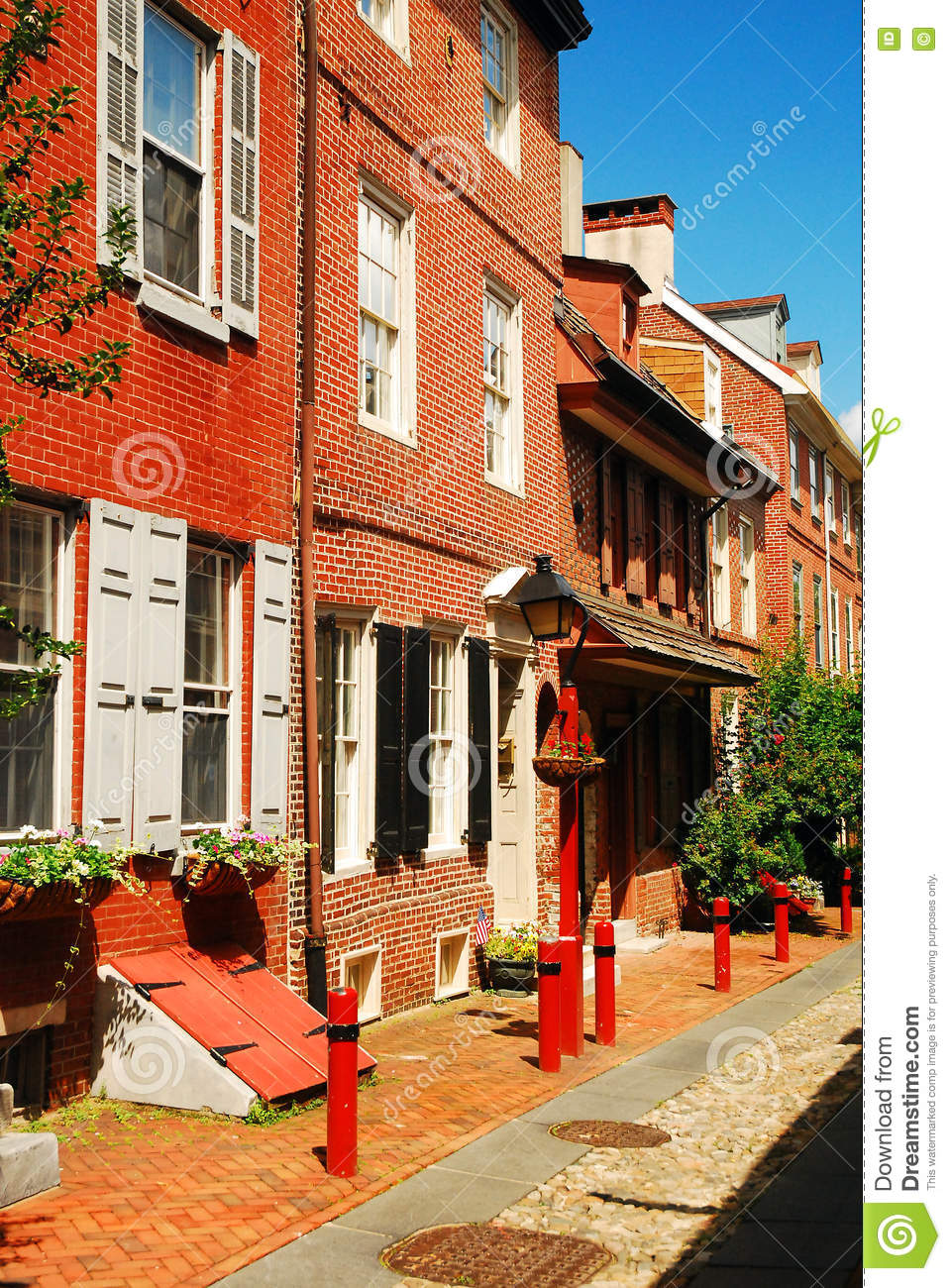 Elfreth S Alley The Oldest Street In America Editorial