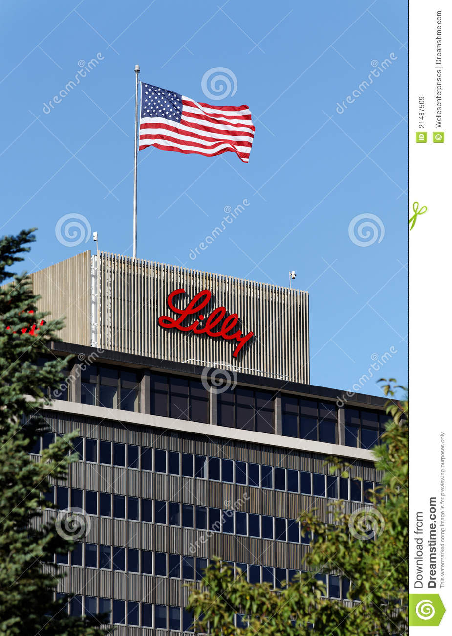 Eli Lilly And Company World Headquarters Building Editorial