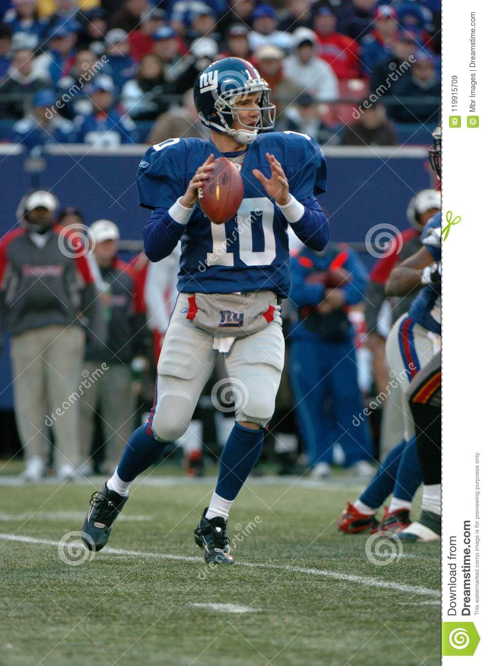 Eli Manning New York Giants Editorial Stock Image - Image of