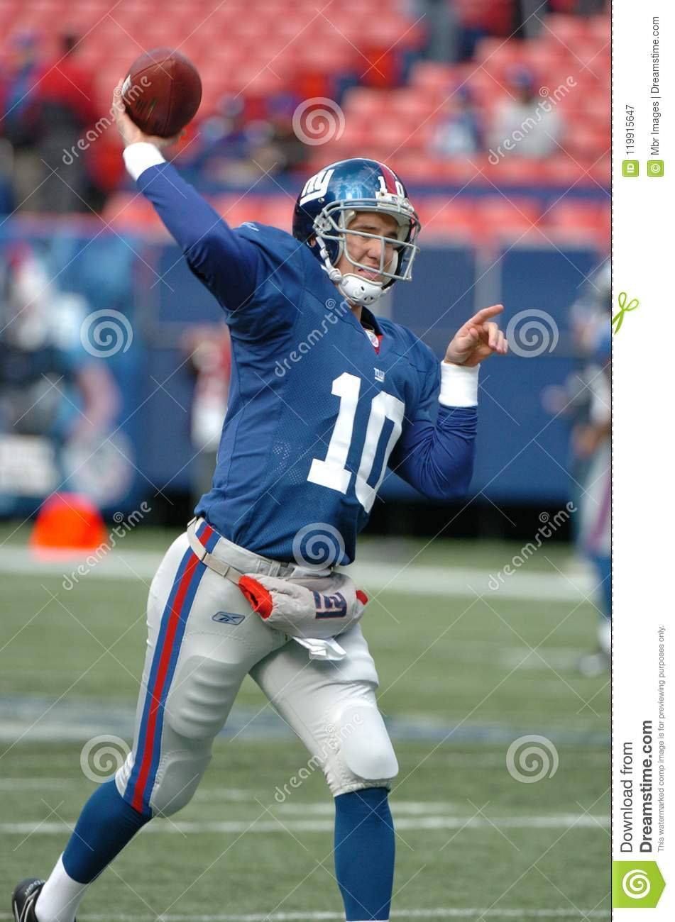 Eli Manning New York Giants Editorial Photography - Image of
