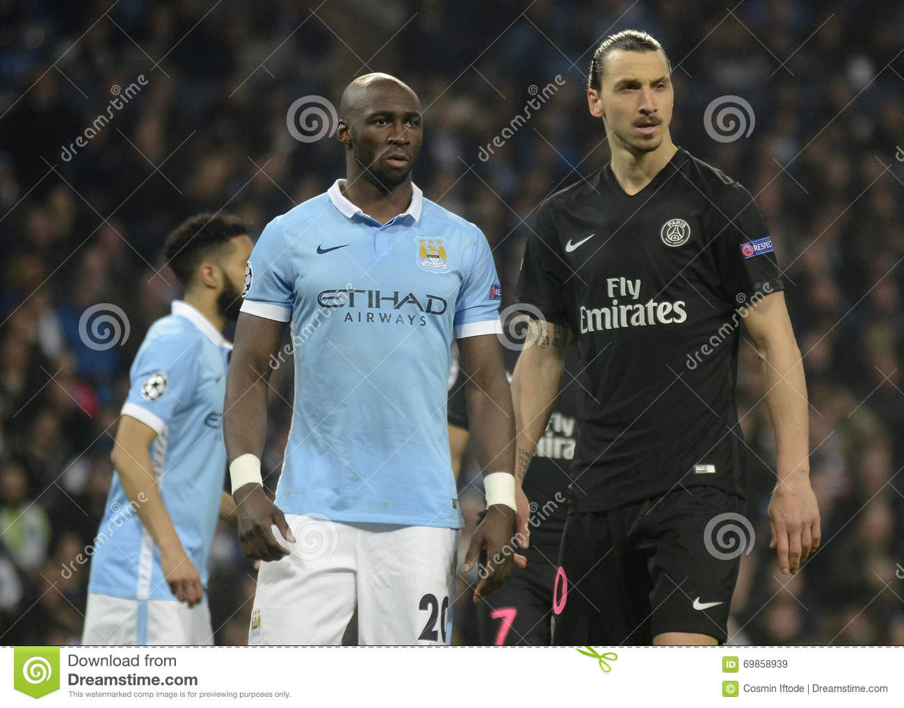 Eliaquim Mangala And Zlatan Ibrahimovic Editorial Stock Image