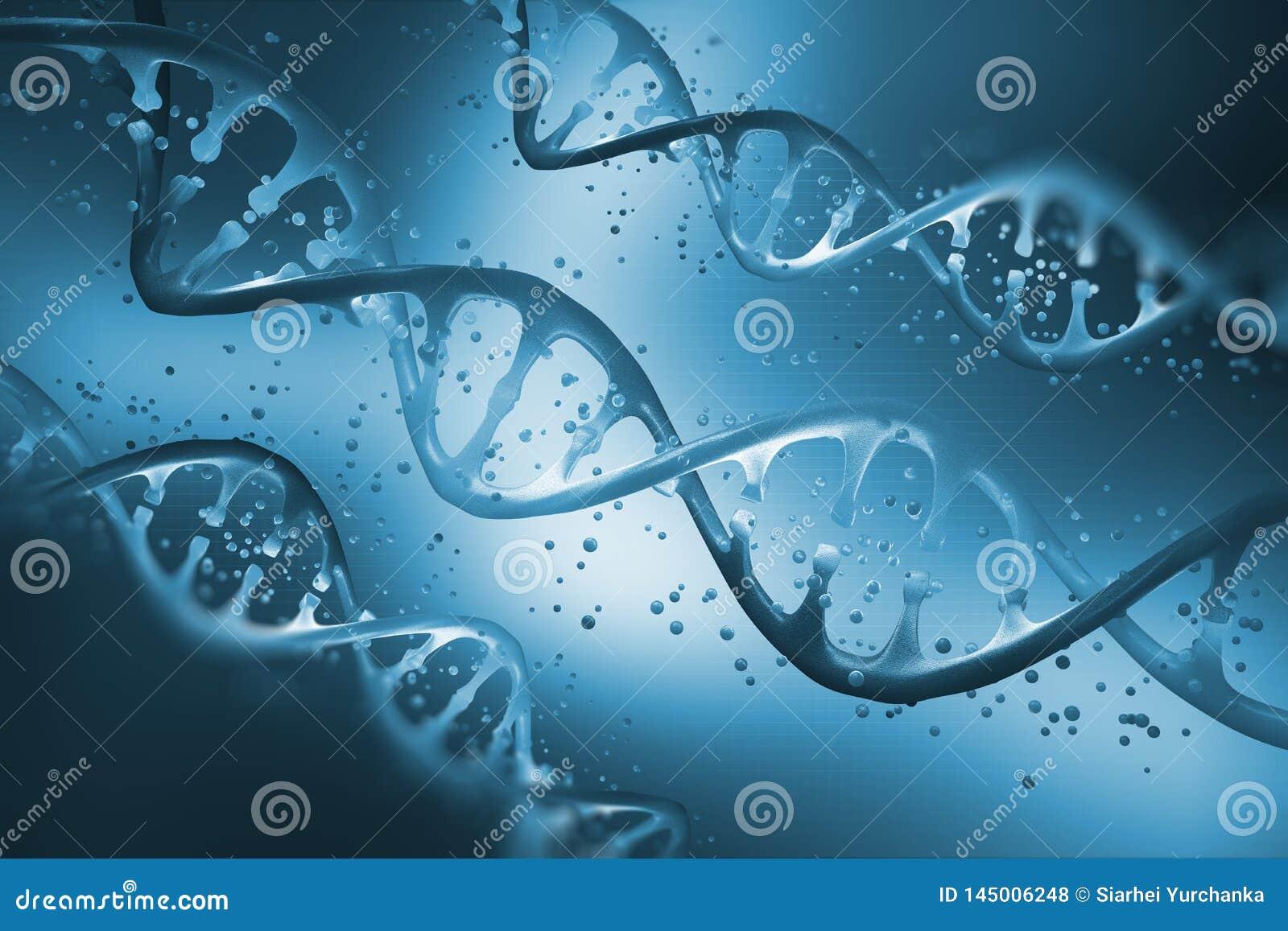 Elica del DNA Concetto genetico del DNA isolato su priorit? bassa bianca Studio sulla struttura di DNA