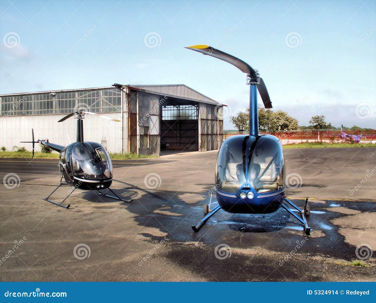 Download Elicotteri & capannone fotografia stock. Immagine di tyne - 5324914