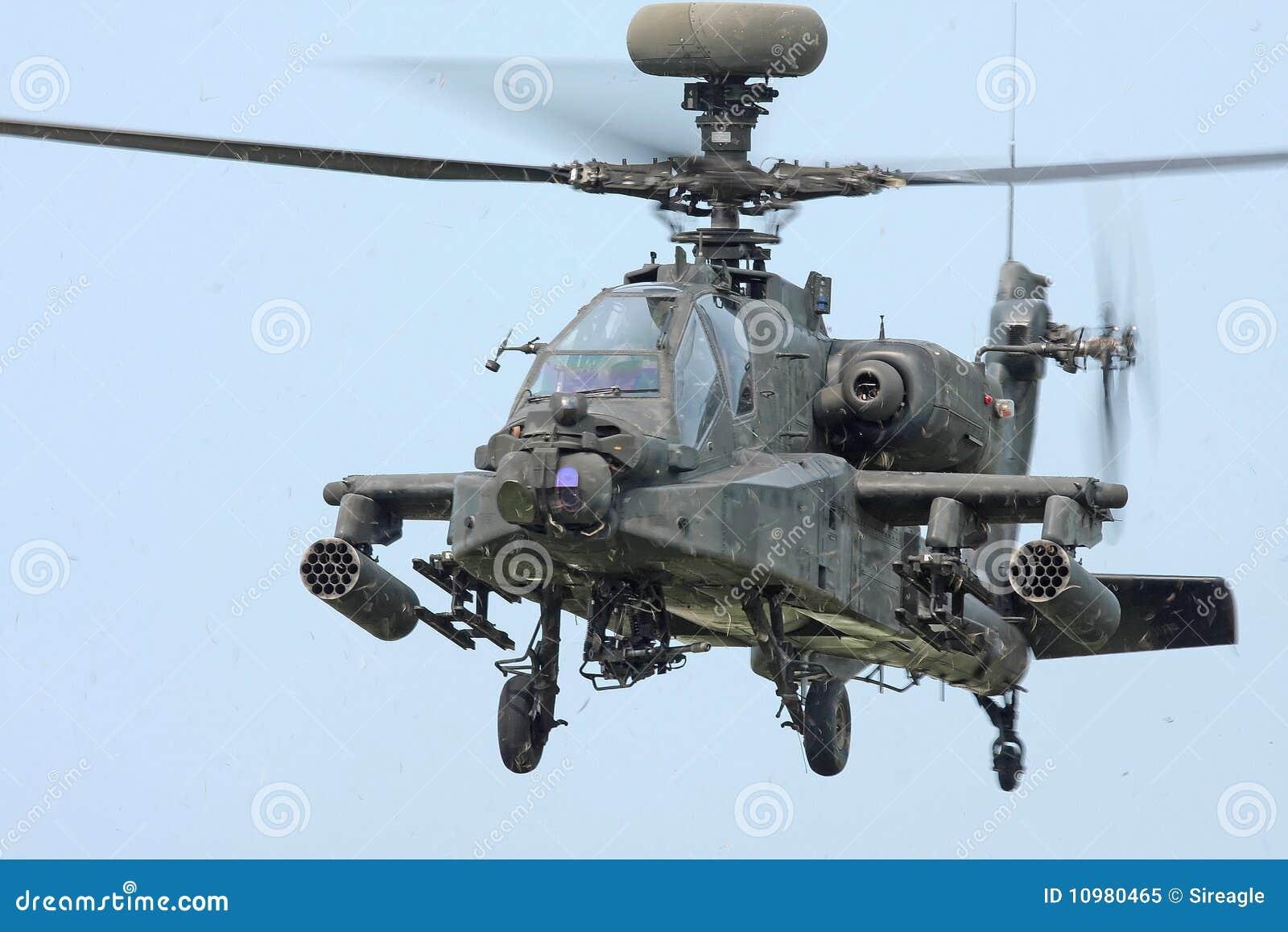 Elicottero Grigio : Elicottero del longbow apache immagine stock