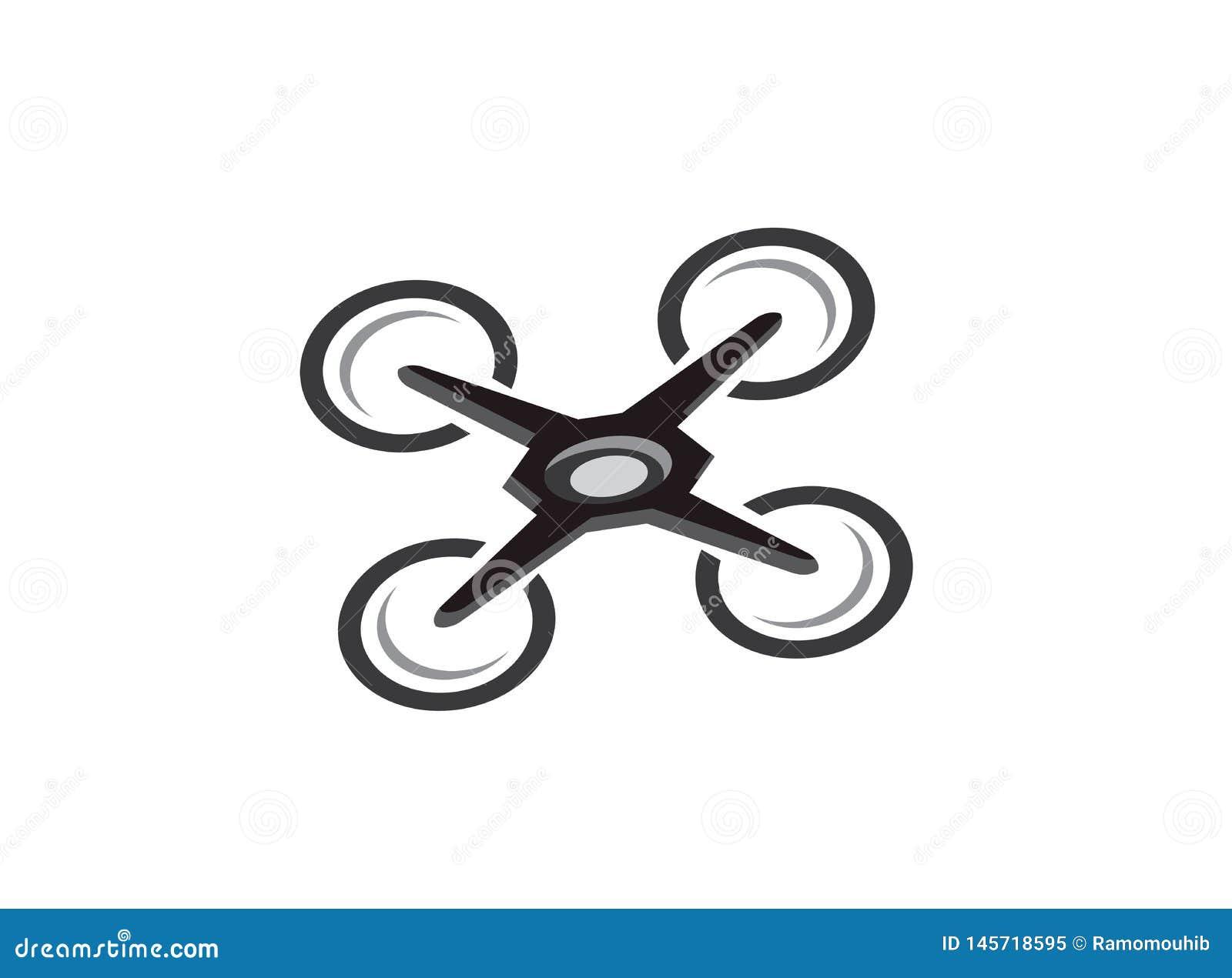 Elicottero del quadrato del fuco con la macchina fotografica digitale alla mosca del cielo per sorveglianza Primo piano dei fuchi
