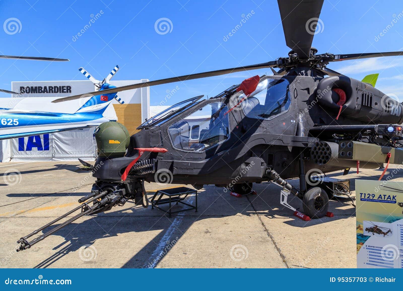 Elicottero T 129 : Elicottero del tai t129 atak fotografia stock editoriale immagine