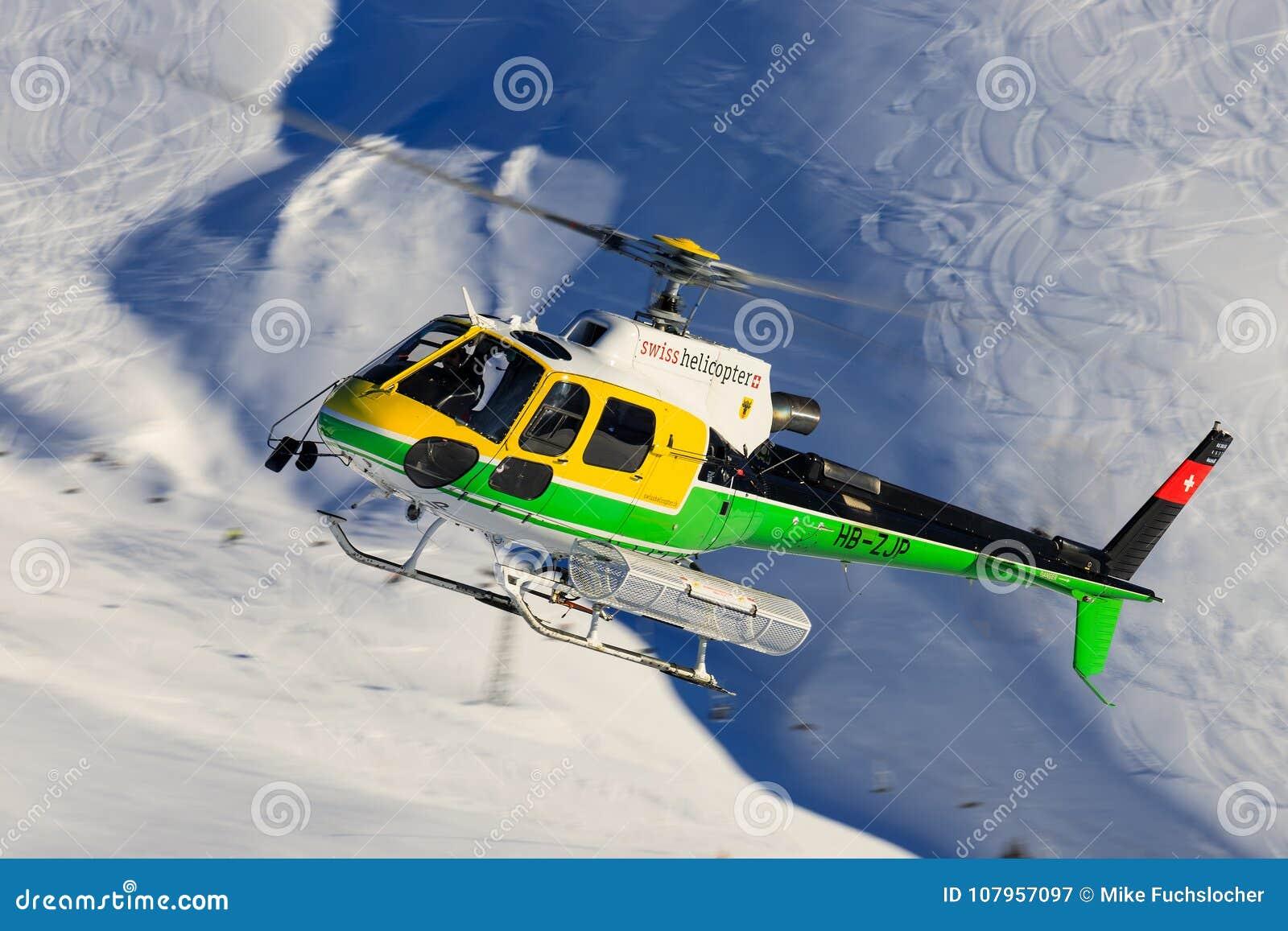 Elicottero B3 : Elicottero dello svizzero di eurocopter as b hb zjp fotografia