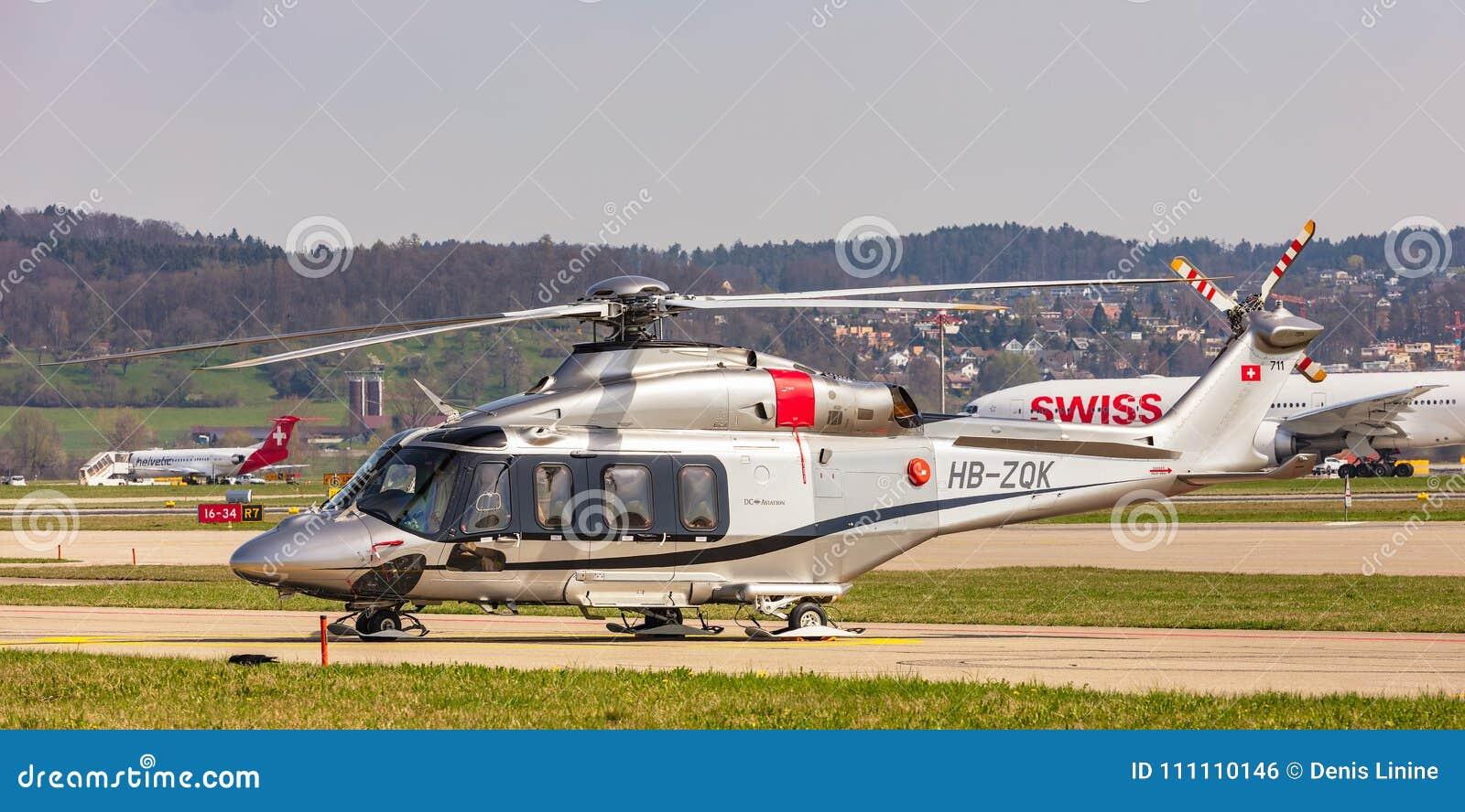 Elicottero 139 : Elicottero di agustawestland aw 139 allaeroporto di zurigo