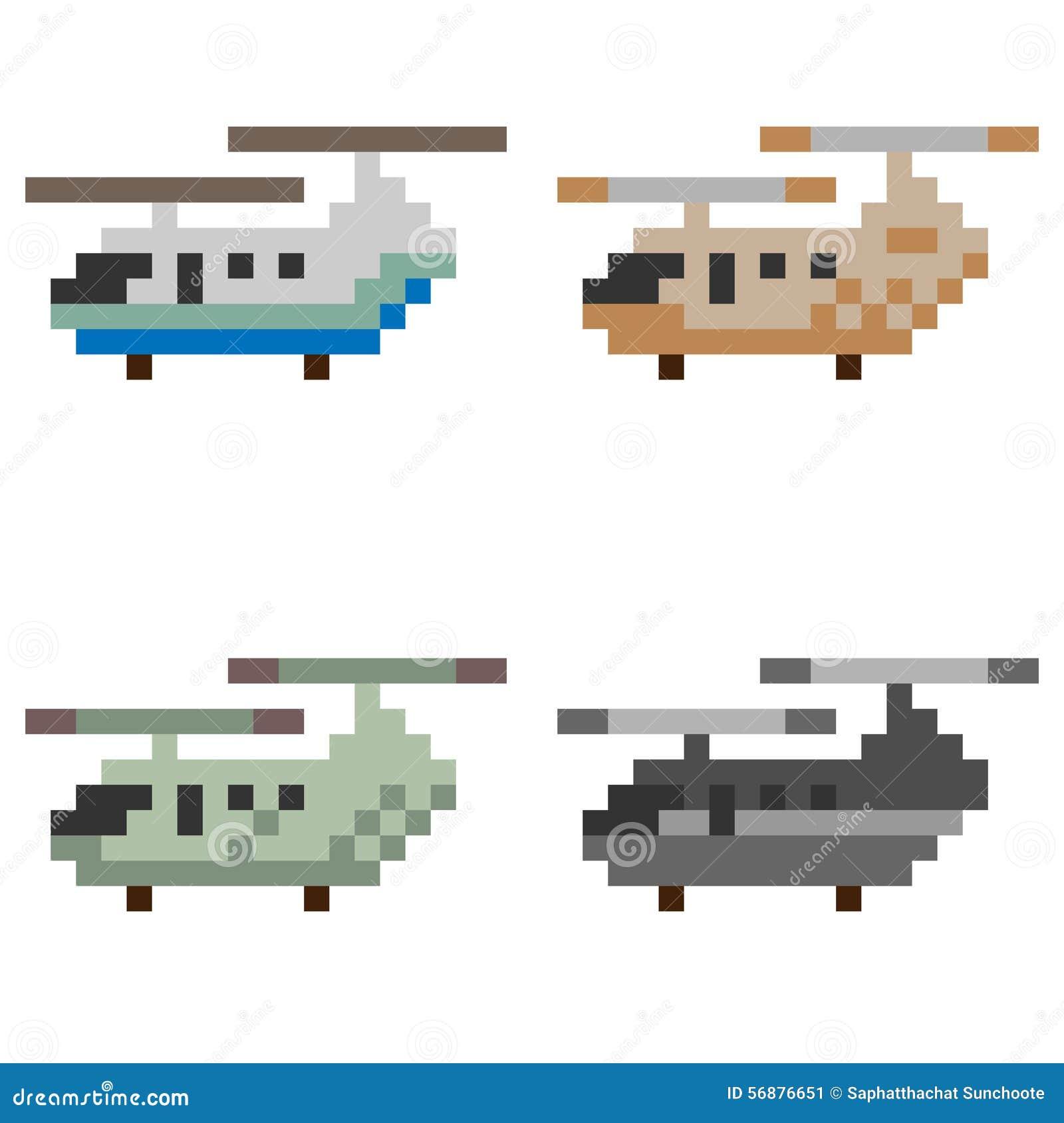 Elicottero di arte del pixel dell illustrazione