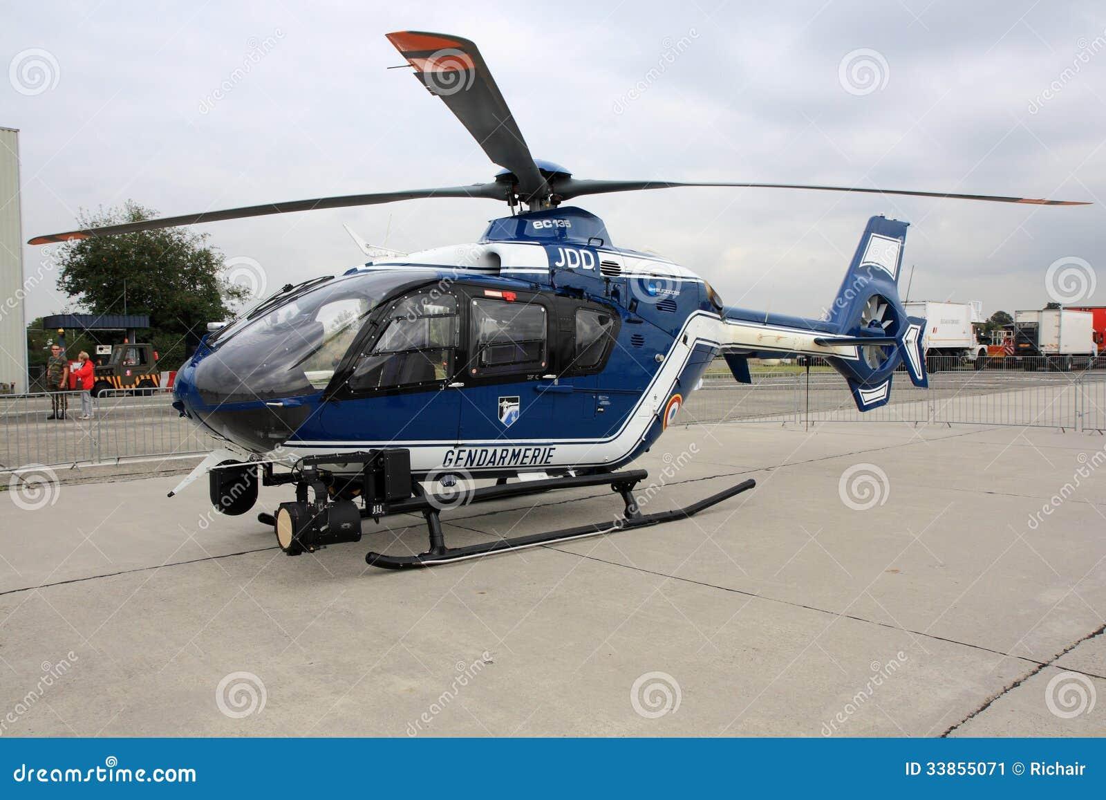 Elicottero Polizia : Elicottero di polizia francese fotografia editoriale
